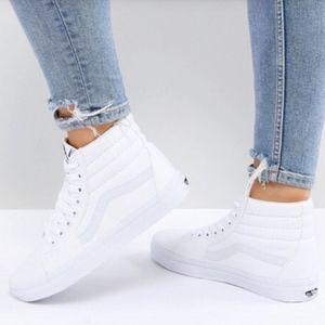Vans All white classic high top sneakers Size 7
